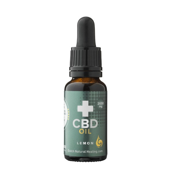 CBD Olie 8% van Dutch Natural Healing (20ml) - Citroensmaak